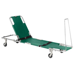 "Junkin ""EASY FOLD"" Swivel Wheeled Stretcher with Adjustable Back Rest"