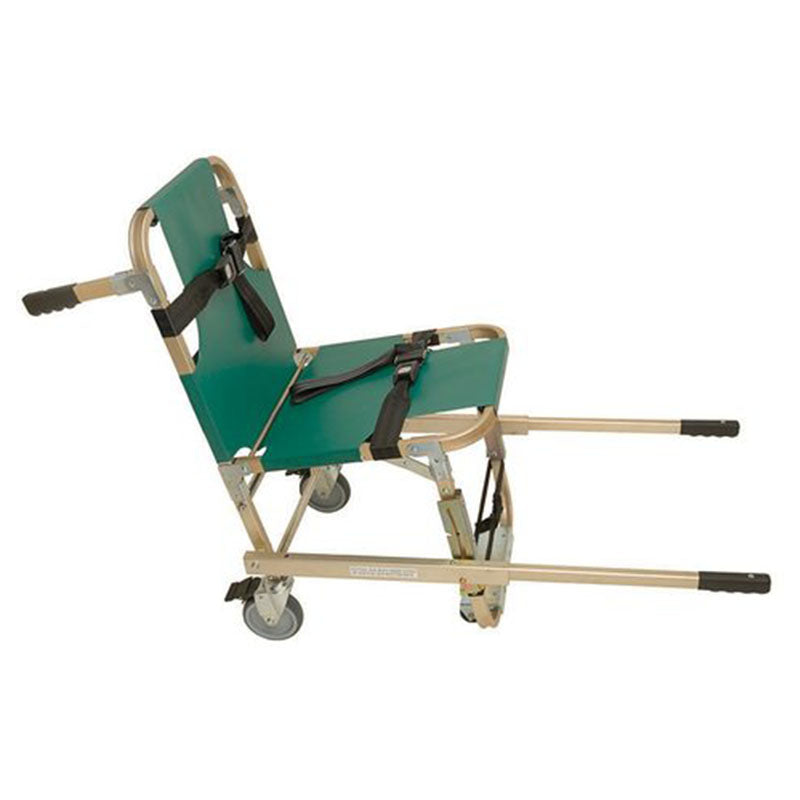 Junkin 4-Wheeled Evacuation Chair with Extended Telescoping Handles
