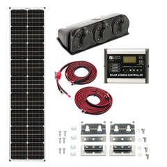 Zamp Solar 90-Watt Long Roof Mount Kit