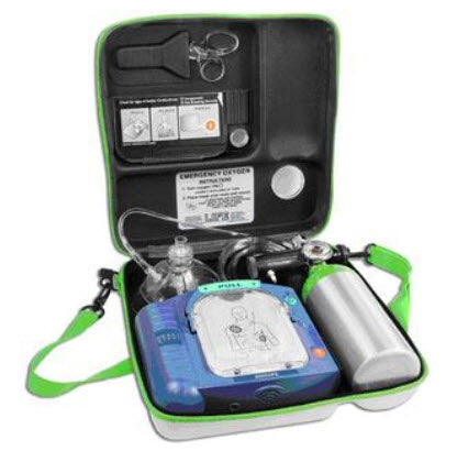 LIFE StartSystem Emergency Oxygen Unit for AED Wall Case