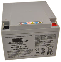 MK Battery 12V 26 Ah Light Duty Sealed Gel Battery