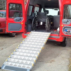 "Roll-A-Ramp 36"" Wide Manual Bi-Fold Van Ramp System"