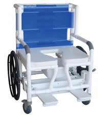 MJM Bariatric Shower Commode Transfer Chair