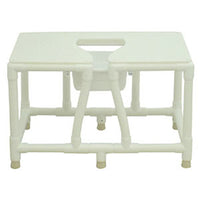 MJM PVC Framed Non-Slip Bedside Commode