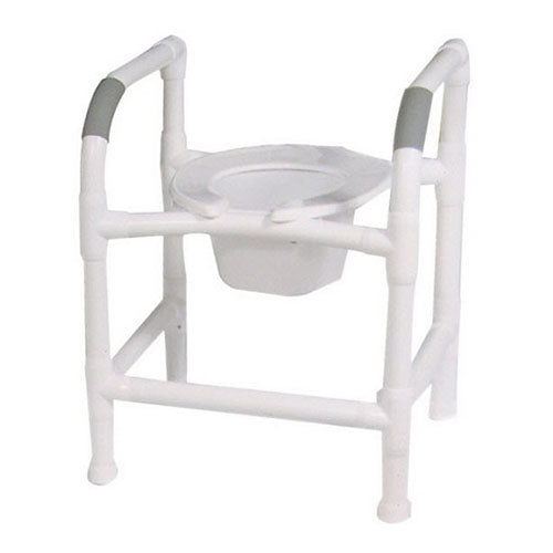 MJM 3-in-1 Commode Seat with PVC Safety Rails
