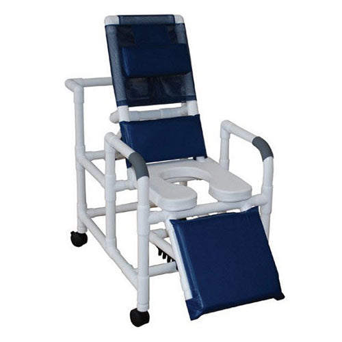 MJM Reclining Shower Chair with Elongated Soft Seat