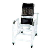 MJM Reclining Shower Chair with Deluxe Elongated Open Front Seat