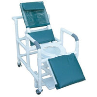 MJM Reclining Shower Commode Chair With Sliding Footrest
