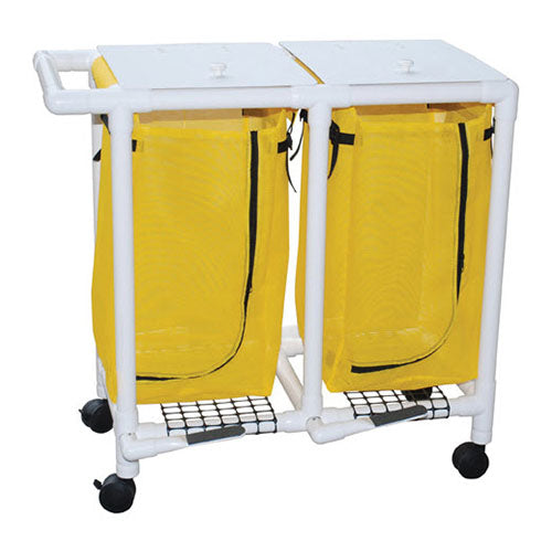 MJM Double Bag Mobile Laundry Hamper