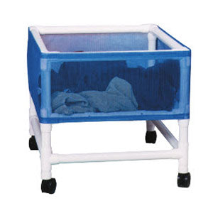 MJM Medium PVC Laundry Basket Hamper on Wheels