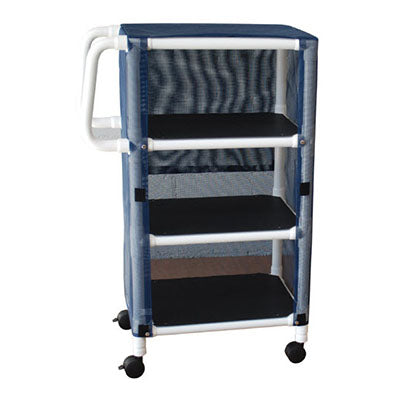 MJM Non-Magnetic Multi-Shelf Compact Linen Cart