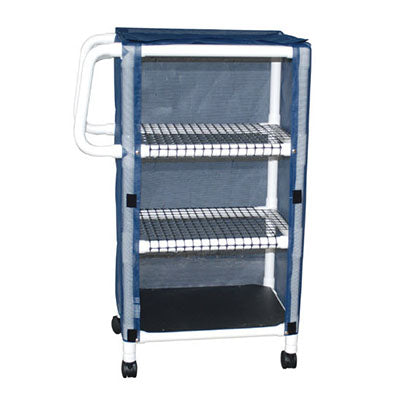 MJM Multi-Shelf Compact Linen Cart with Cover