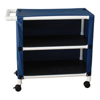 MJM Two Shelf Utility Linen Cart