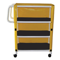 MJM Three Shelf Utility Linen Cart