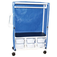 MJM Combo Linen Cart with 6 Slide Out Tubs