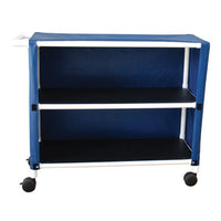 MJM Two Shelf Linen Cart with Cover