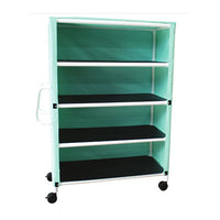 MJM Four Shelf Linen Cart with Cover