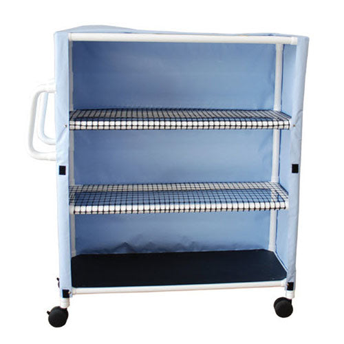 MJM Multi-Shelf Linen Cart with Cover