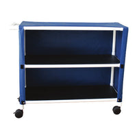 MJM Two Shelf Jumbo Linen Cart with Cover