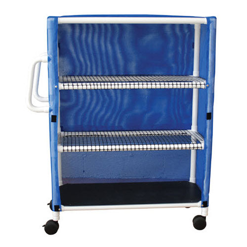 MJM Three Shelf Jumbo Linen Cart with Cover