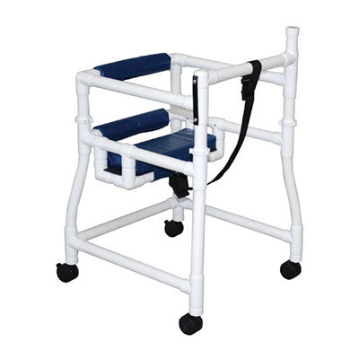 MJM PVC Walker with Hard Seat and Padded Backrest