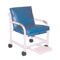 MJM Transport Chair with Non-Magnetic Casters and Footrest