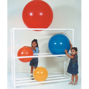 MJM Stationary PVC Exercise Therapy Ball Rack