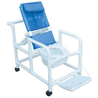 MJM Echo Reclining Shower Commode Chair with Pail