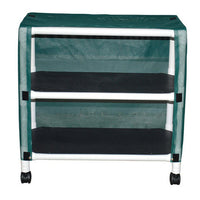 MJM Echo Two-Shelf Utility Linen Cart