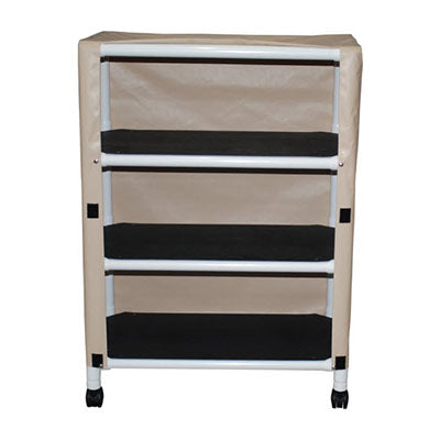 MJM Echo Three-Shelf Utility Linen Cart