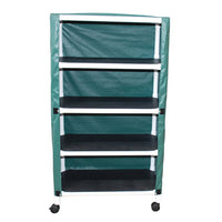 MJM Echo Four-Shelf Utility Linen Cart