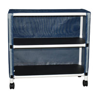 MJM Echo Two-Shelf Linen Cart