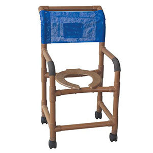 "MJM 18"" Wood Tone Shower Chair"