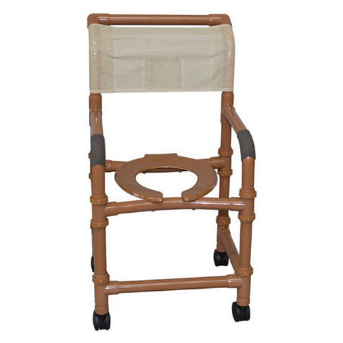 "MJM 18"" Wood Tone Adjustable Height Shower Chair"