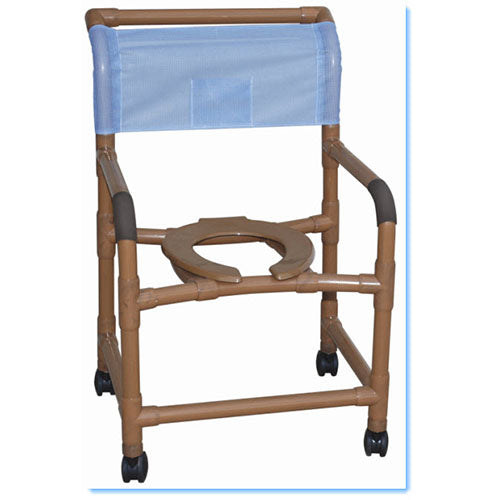 "MJM 22"" Wood Tone Shower Chair"