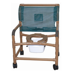 MJM Wood Tone Shower Commode Chairs