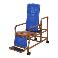 MJM Wood Tone Tilt-N-Space Shower Chair