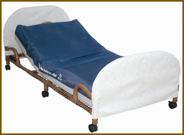 MJM Wood Tone Low PVC Frame Bed