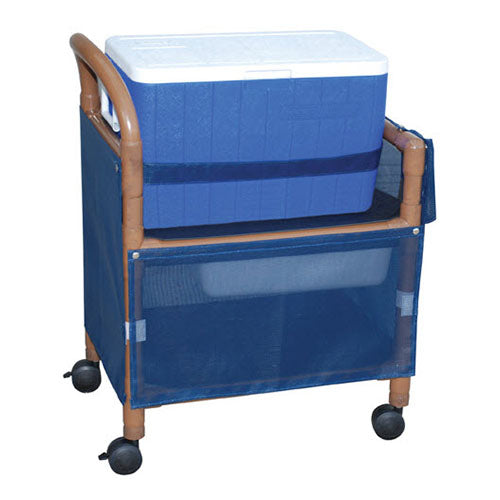 MJM Wood Tone Ice Cart with Skirt Cover-Panels