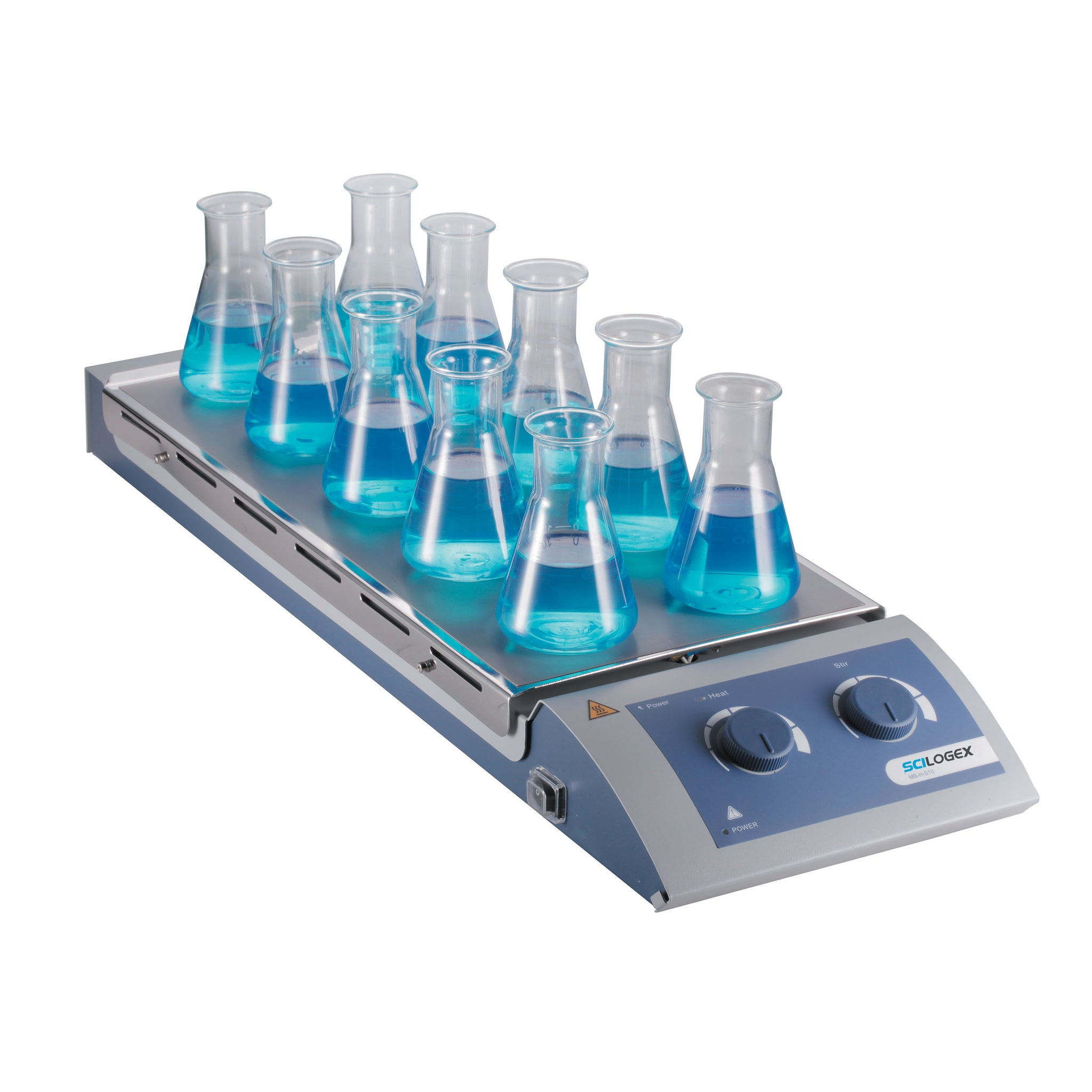 Scilogex SCI120-HS 10-Place Analog Magnetic Hotplate Stirrer (120ºC Max.)
