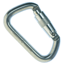 "Omega Pacific 1/2"" Modified D NFPA Quik-Lok Carabiner"