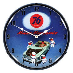 "Union 76 Minute Man Service 14"" LED Wall Clock"