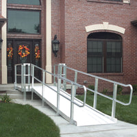 "PVI Modular XP 36"" Wide Wheelchair Ramp with Handrails"