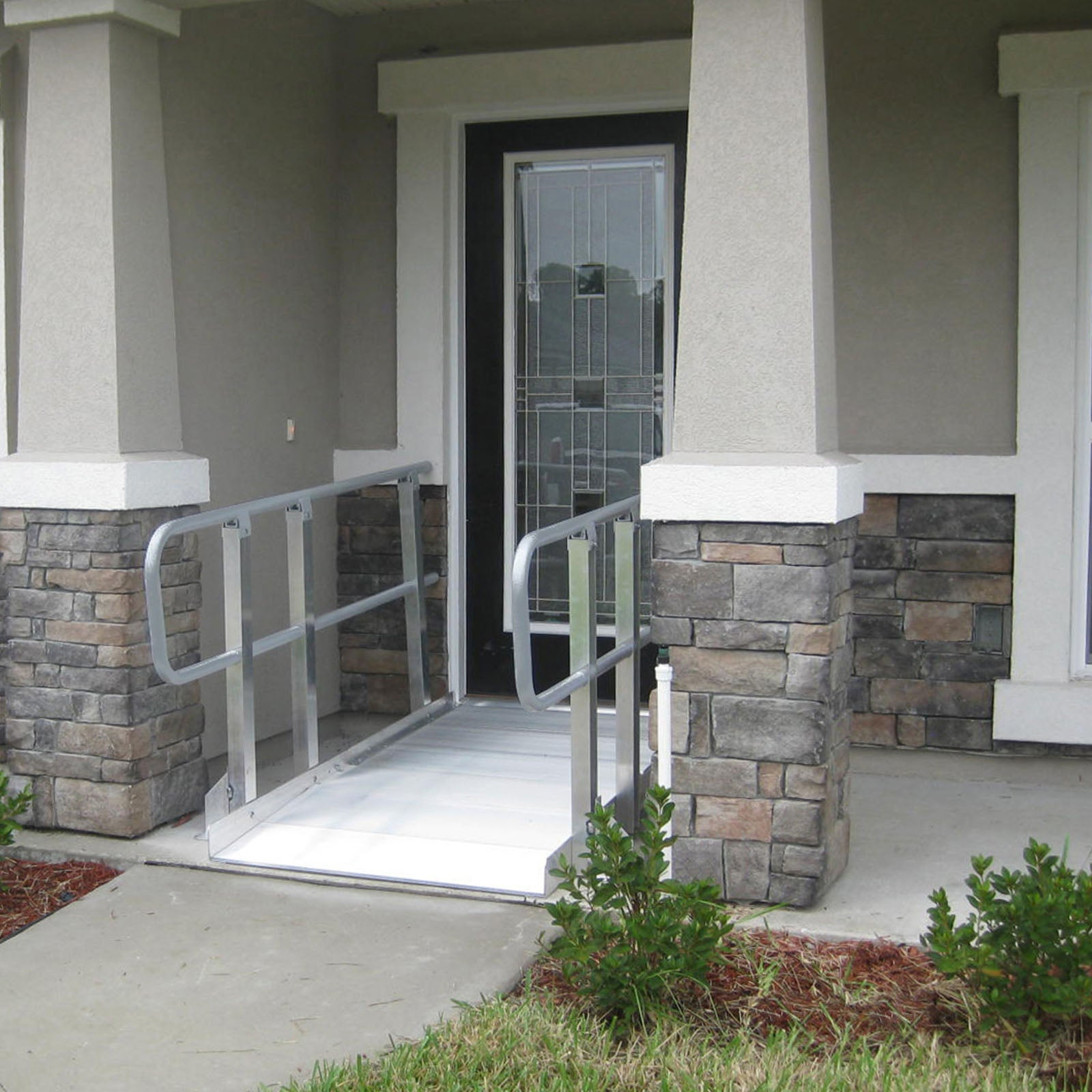 "PVI Modular XP 48"" Wide Wheelchair Ramp with Handrails"