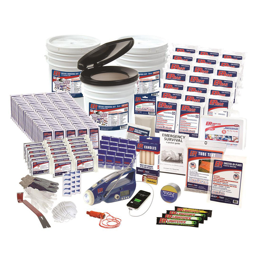 ER™ Emergency Ready 100-Person Ultimate Deluxe Office Survival Kit