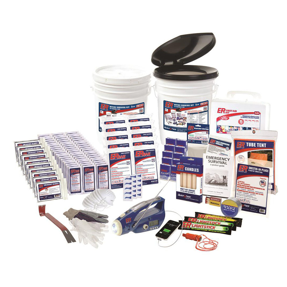 ER™ Emergency Ready 10-Person Ultimate Deluxe Survival Kit