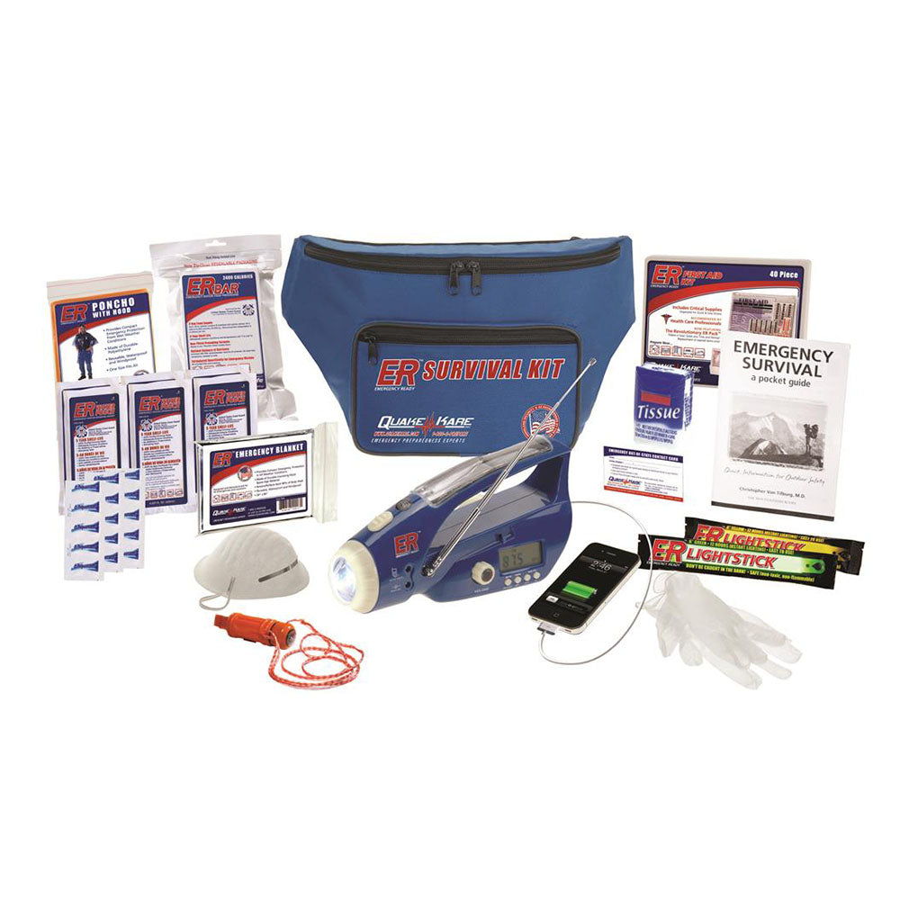 ER™ Emergency Ready 1-Person Ultimate Deluxe Fanny Pack Survival Kit