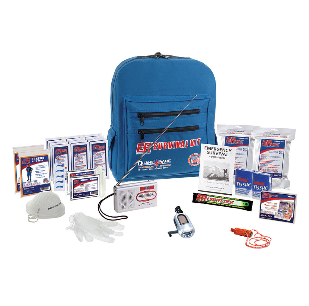 ER™ Emergency Ready 2-Person Deluxe Backpack Survival Kit