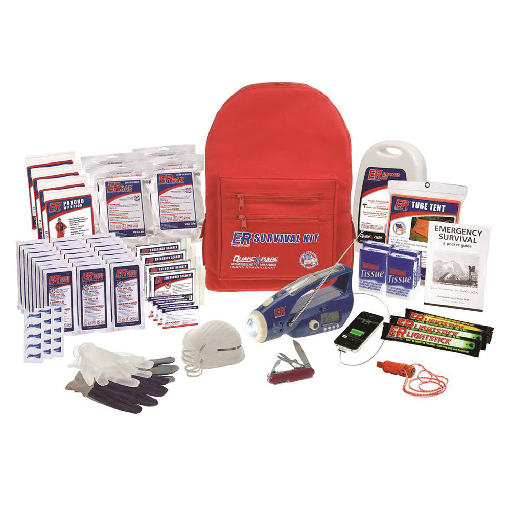 ER™ Emergency Ready 4-Person Ultimate Deluxe Backpack Survival Kit