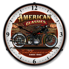 "American Classics ""Bike"" Since 1903 14"" LED Wall Clock"